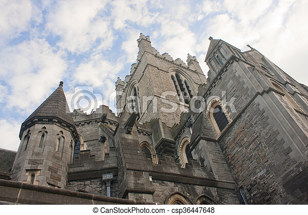 Christ Church Cathedral in Dublin, Ireland - csp36447648