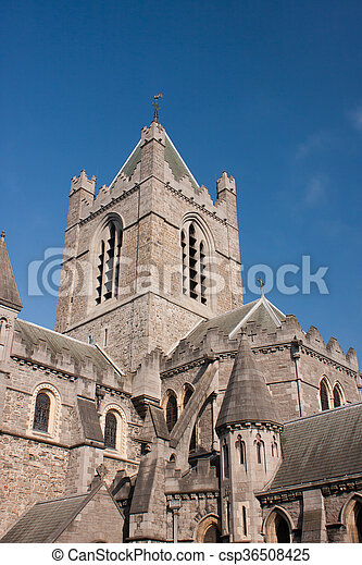 Christ Church Cathedral of Dublin in Ireland - csp36508425