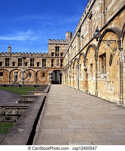 Christ Church College, Oxford. - csp12450547