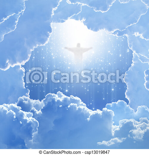 Christ in sky, easter - csp13019847