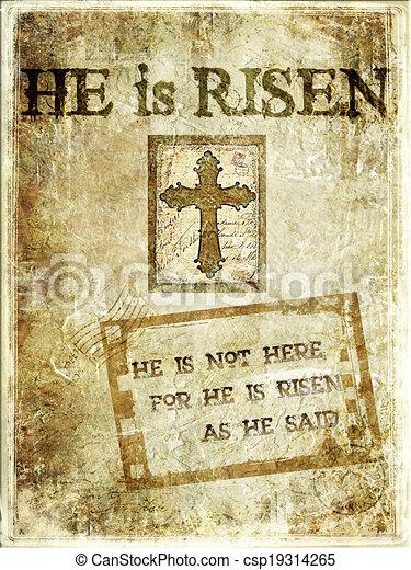 """""""Christ Is Risen"""" Background - csp19314265"""