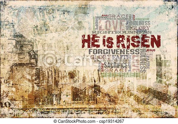 """""""Christ Is Risen"""" Background - csp19314267"""