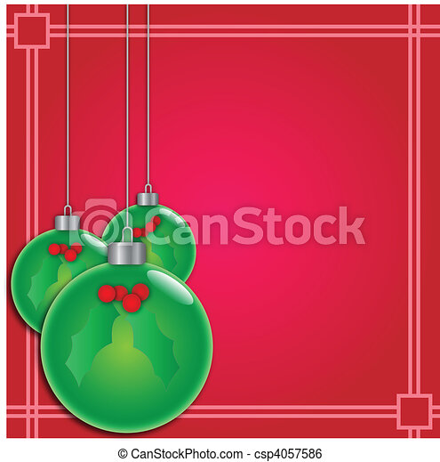 christbaumkugeln - csp4057586