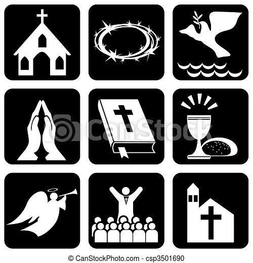 christentum, religiöses, zeichen & schilder - csp3501690