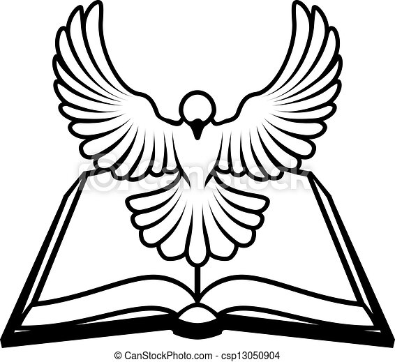 A Christian Bible Dove Concept With A White Dove Vector Clipart