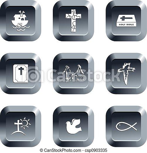 christian buttons - csp0903335