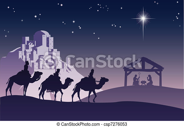 Christian Christmas Nativity Scene - csp7276053