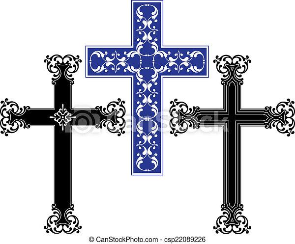 Christian Cross Design - csp22089226