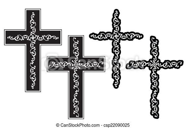 Christian Cross Design - csp22090025
