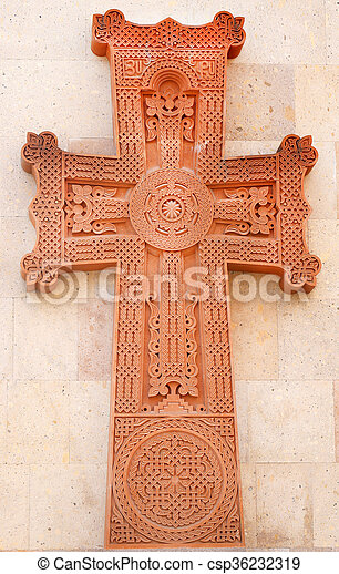 Christian cross in the Temple - csp36232319