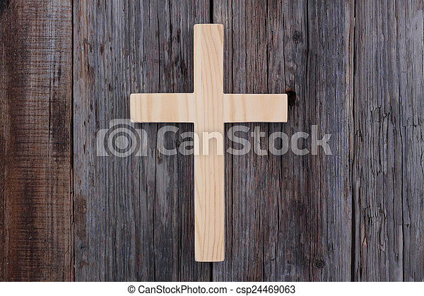 christian cross old wood wooden background christianity - csp24469063