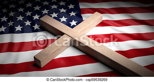 2a770908104726 Usa and christianity. christian cross on american flag background ...