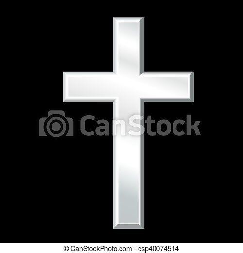 Christian Cross Silver Crucifix Silver Cross Symbol Of