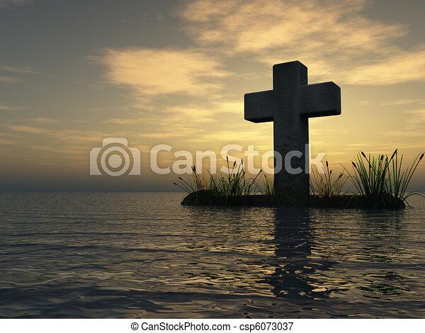christian cross - csp6073037