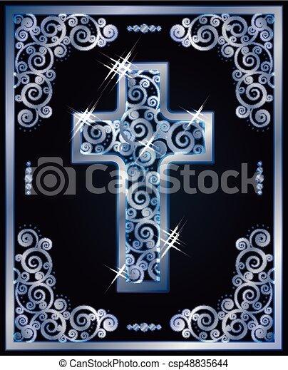 Christian cross symbols, vector illustration - csp48835644