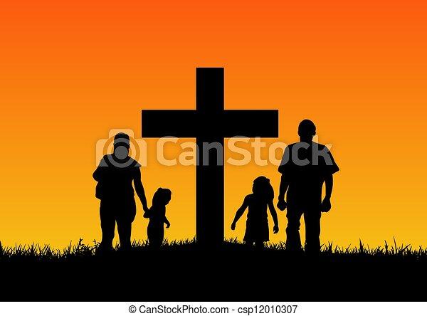 Christian Family - csp12010307