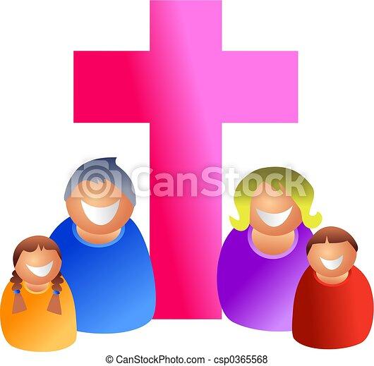 christian family religious happy family icon people stock rh canstockphoto com Spiritual Clip Art Religious African American Family Art