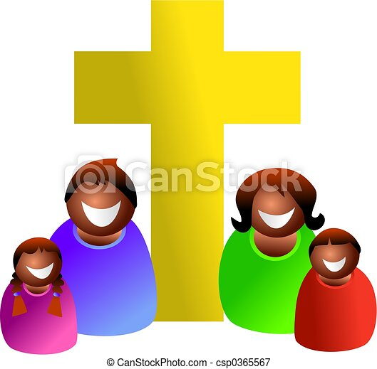 christian family religious ethnic family icon people stock rh canstockphoto com Religious African American Family Christian Clip Art Black and White