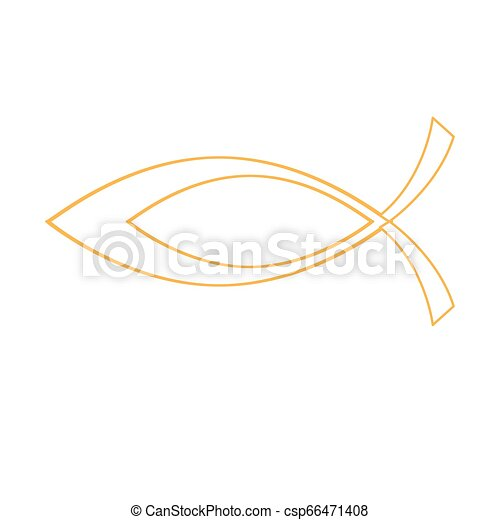Christian fish symbol - csp66471408