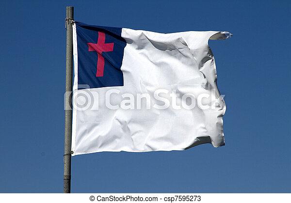 Christian Flag - csp7595273