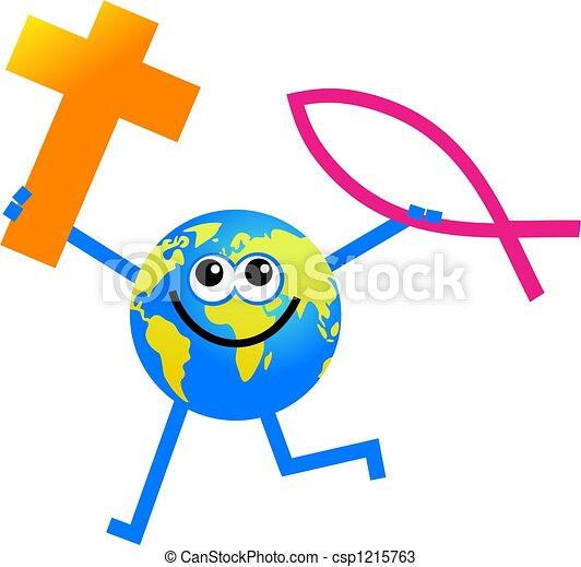 Christian globe - csp1215763