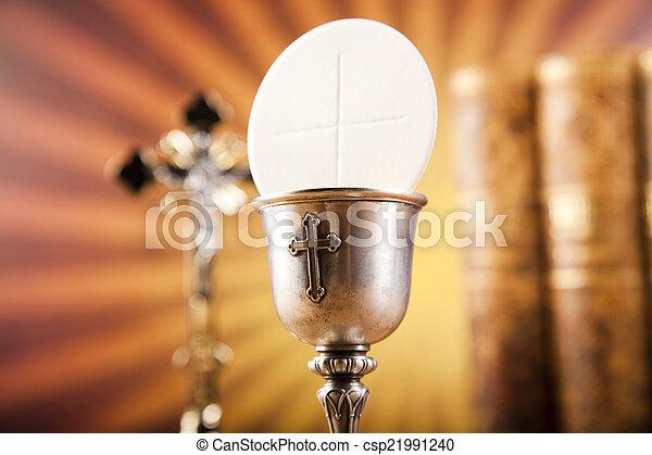 Christian holy communion  - csp21991240