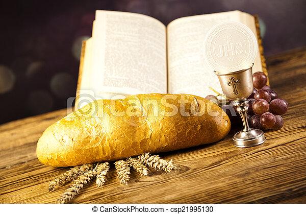 Christian holy communion - csp21995130