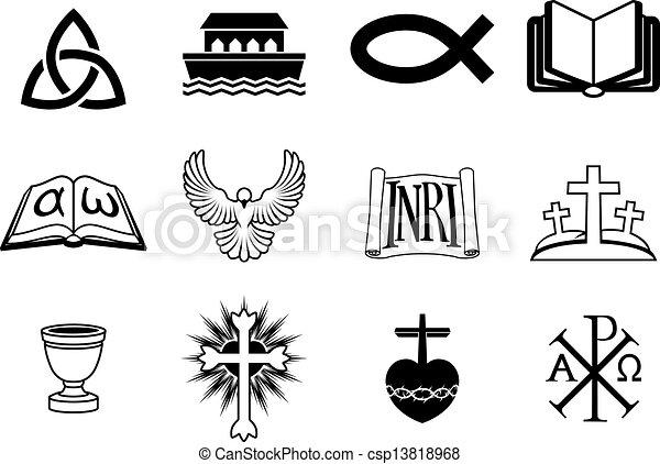 Christian icons - csp13818968