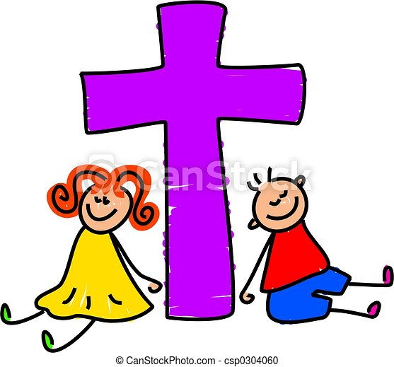 christian kids kids from a christian family toddler art stock rh canstockphoto com