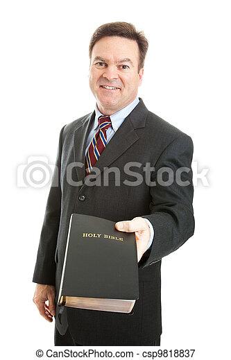 Christian Man with Bible - csp9818837