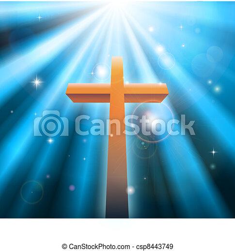 Christian religion cross - csp8443749