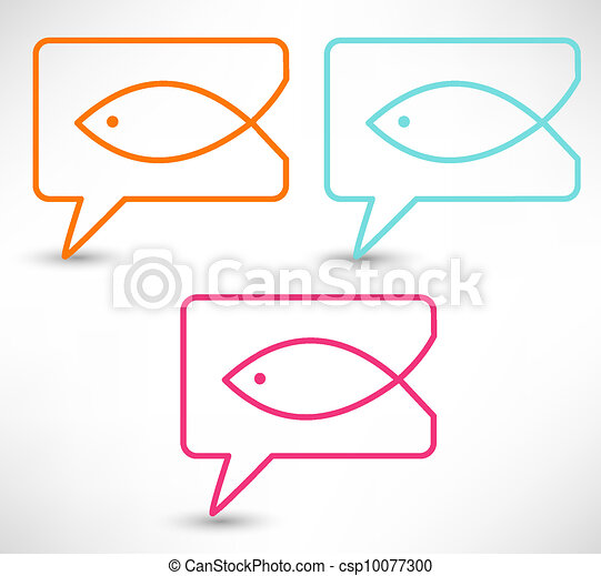 Christian religion symbol fish - csp10077300
