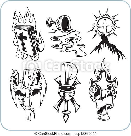 Christian Religion - vector illustration. - csp12369044