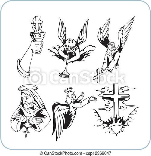 Christian Religion - vector illustration. - csp12369047