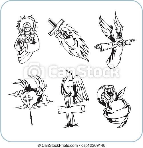 Christian Religion - vector illustration. - csp12369148