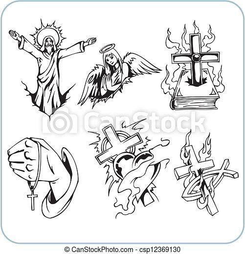 Christian Religion - vector illustration. - csp12369130