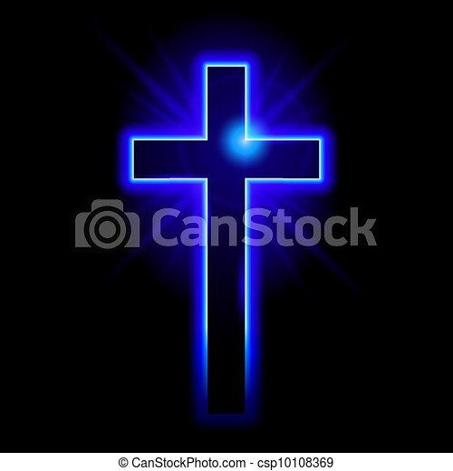 Christian symbol of the crucifix - csp10108369