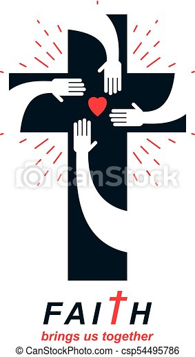 christianity cross true belief in jesus vector symbol vector rh canstockphoto com religious clip art free images religious clipart for kids