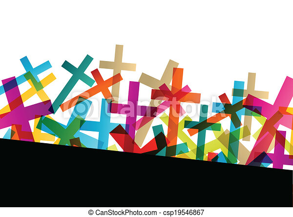 Christianity religion cross concept abstract background vector - csp19546867