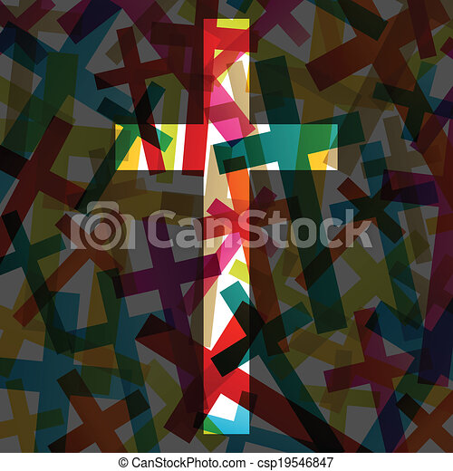 Christianity religion cross concept abstract background vector - csp19546847