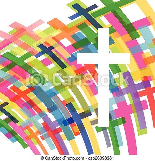 Christianity religion cross concept - csp26098381