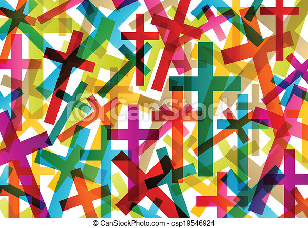 Christianity religion cross concept abstract background vector - csp19546924