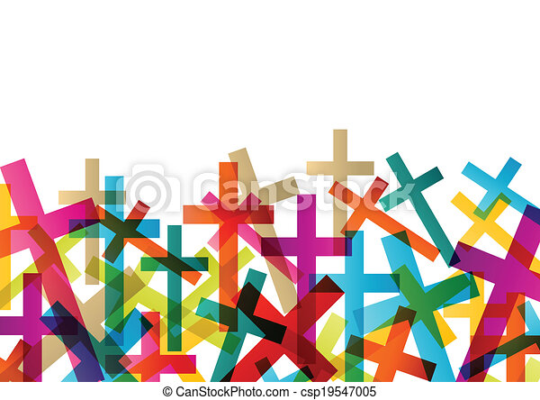 Christianity religion cross concept abstract background vector - csp19547005
