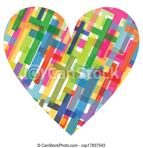 Christianity religion cross mosaic heart concept abstract background illustration vector for poster - csp17837543
