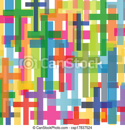 Christianity religion cross mosaic concept abstract background vector illustration for poster - csp17837524
