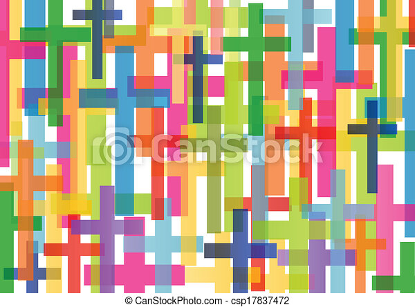 Christianity religion cross mosaic concept abstract background vector illustration for poster - csp17837472