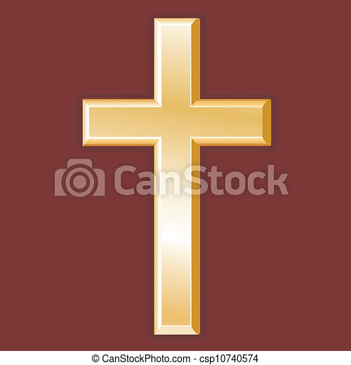 Christianity Symbol Golden Cross Golden Cross Symbol Of Christian