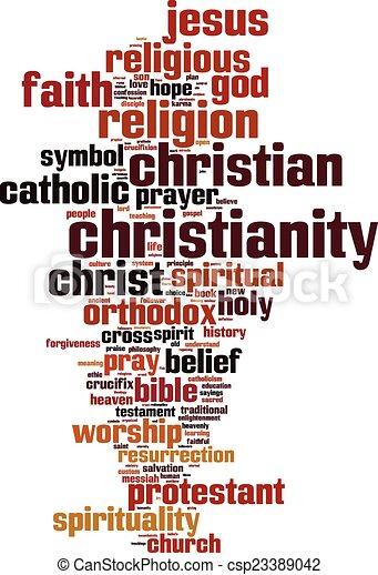 Christianity word cloud - csp23389042
