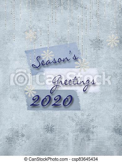Christmas 2020 Season's Greetings - csp83645434