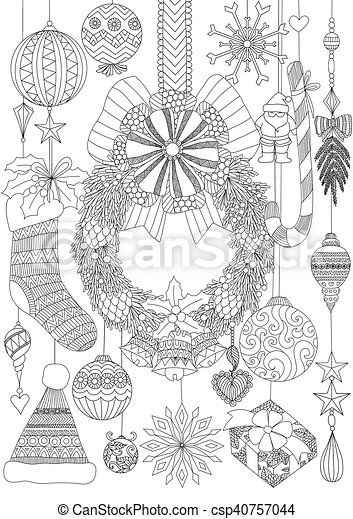 Christmas accessories - csp40757044